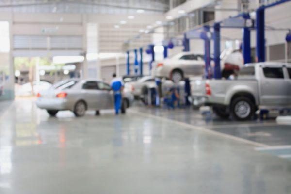 mechanic workshop blurry