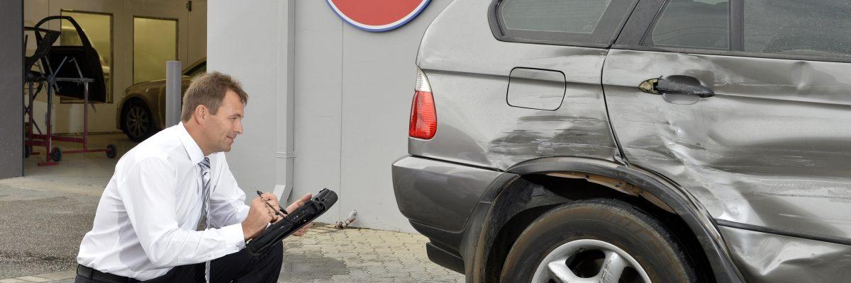 assessing damage to bmw at car craft
